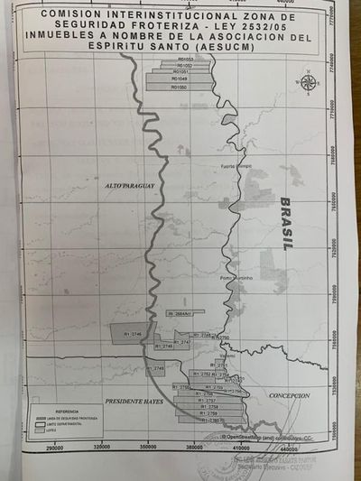 Confirman que tierras entregadas a extranjeros por jueza Irún estan dentro de la franja de seguridad fronteriza del Paraguay