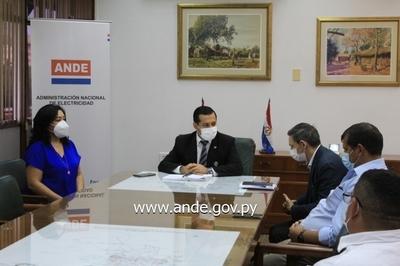 ANDE, SENATUR y Municipalidad de Juan E. O´Leary coordinan acciones para el refuerzo del suministro eléctrico