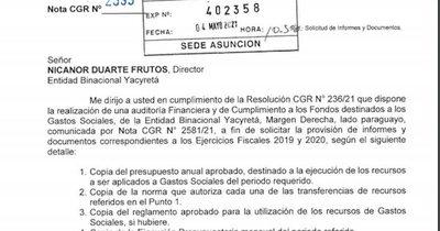 La Nación / La Contraloría pide informes a las binacionales