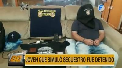 Joven simula su secuestro, pide dinero a su familia y ahora está detenido
