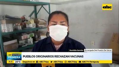 Pueblos originarios del Chaco rechazan vacunas anticovid