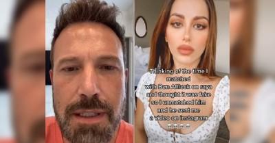 Una joven descarta a Ben Affleck en una app de citas porque creyó que era un perfil falso: el actor le envió un video