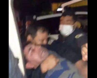 Video: Cobarde y desproporcionado procedimiento policial en Ñemby