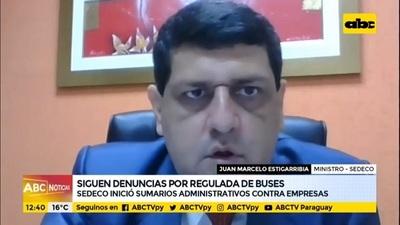 Sedeco instruye sumario a empresas de transporte por reguladas