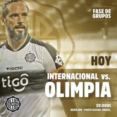 Olimpia visita al Internacional luego de 32 años en el Beira Río de Porto Alegre buscando los tres puntos