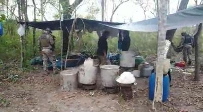 Detectan laboratorio de procesamiento de drogas en el Parque Nacional Paso Bravo