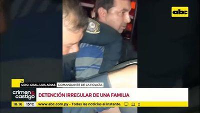 Detención irregular de una familia