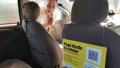 Los pagos con QR ya son una realidad para los viajes en taxis de Asunción