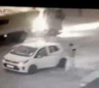 Villa Elisa: Camión casi arrolla a mujer embarazada