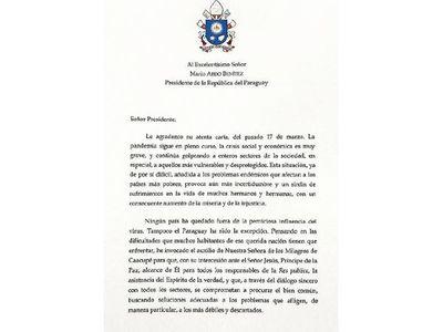 """El Papa llama al diálogo y a una """"serena convivencia"""""""