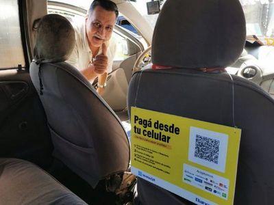 Taxis aceptan pago por el sistema QR