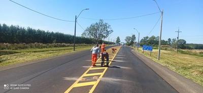 Prosiguen labores de rehabilitación y mantenimiento de la ruta PY01 entre Misiones e Itapúa