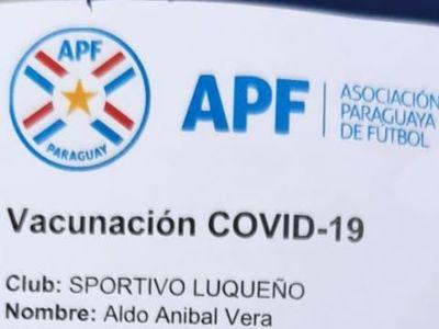 Aldo Vera, el primer jugador del fútbol paraguayo en recibir la vacuna contra el coronavirus