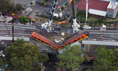 México busca a responsables de accidente en metro capitalino