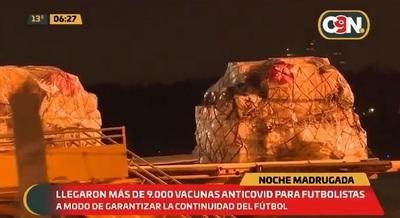 Arriba al país lote de 9.200 vacunas de la Conmebol para futbolistas