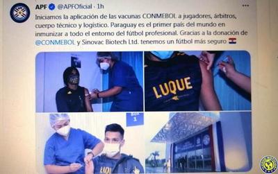 Futbolistas de Luqueño, los primeros vacunados contra el Covid-19 a nivel mundial •