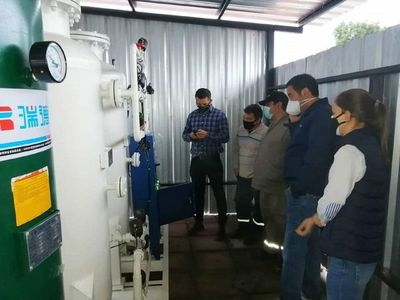 Villa Elisa inaugura su planta de oxígeno con fuerte crítica por el desabastecimiento