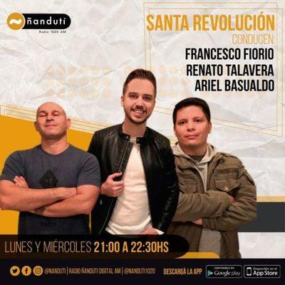 Santa Revolución con Francesco Fiorio, Ariel Basualdo y Renato Talavera