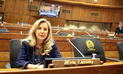 Senadores aceptan renuncia de Mirta Gusinky, asumió Retamozo