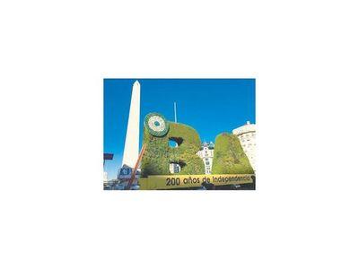 Yuteños dan una nueva cara al símbolo argentino: el Obelisco