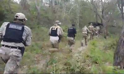 FTC, SENAD y MADES destruyen campamento de drogas dentro del Parque Nacional Paso Bravo
