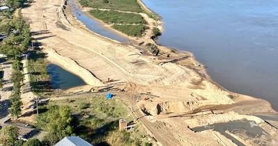 La Nación / Obras de la defensa costera de Pilar avanzan en varios frentes
