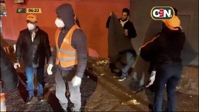 SEN asistió a 50 personas en situación de calle por el frío nocturno