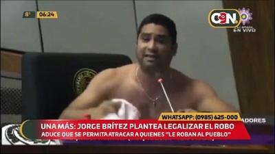 Una más: Jorge Brítez plantea legalizar el robo