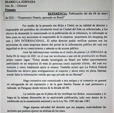 LIBANÉS CONFIRMA QUE ES INVESTIGADO EN BRASIL  POR PROSTITUCIÓN Y NIEGA SER DUEÑO DE SHOPPINGS