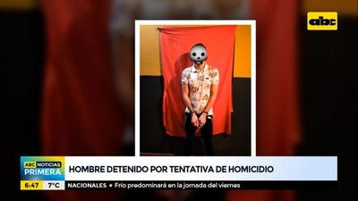 Hombre detenido por tentativa de homicidio