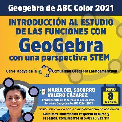 Representante de la Sociedad Latinoamericana de Geogebra dará una charla virtual el sábado