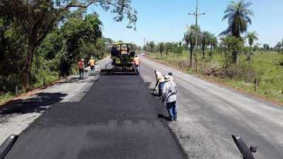"""Un avance del 83% registra la """"Ruta de la Caña"""" entre San José de los Arroyos y Tebicuary"""