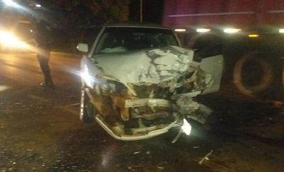 Choque frontal deja dos conductores lesionados