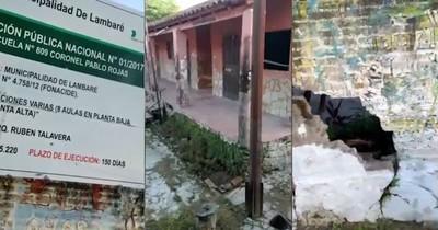 La Nación / Candidata a concejal denuncia estado de abandono de una escuela pública en Lambaré