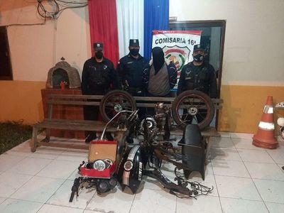 Recuperan en Ypané partes de una motocicleta hurtada en Ybycuí