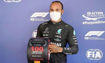 "Hamilton, con su centésima  ""pole"""