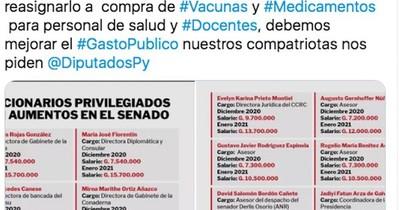 La Nación / Pedirán redestinar a Salud fondos de aumentos en Senado