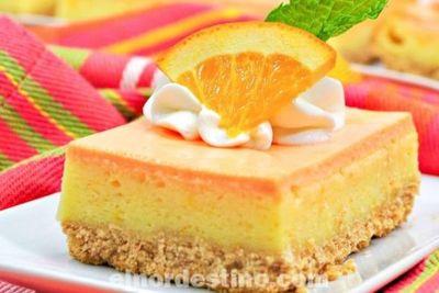 Tarta de queso y naranja nueva receta dulce a base de empanada una versión sorprendente y muy fácil de hacer