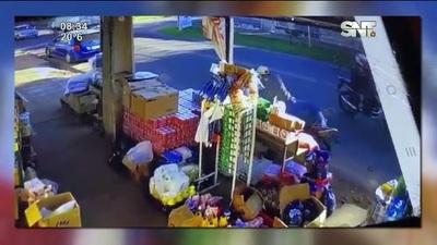 Se registró un violento asalto en un comercio ubicado en Capiatá