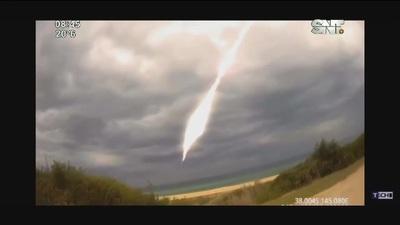 El cohete chino cayó en el océano índico