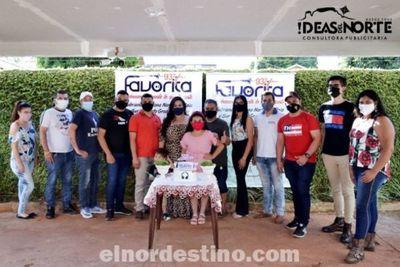 La emisora comercial más joven de Pedro Juan Caballero cumplió un quinquenio de vida y lo celebró con un modesto refrigerio