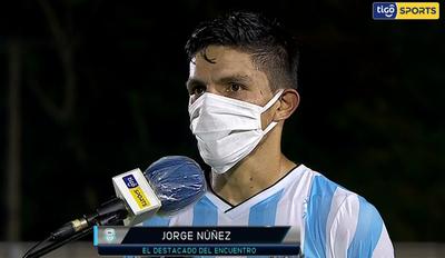 Jorge Núñez, destacado de Guaireña