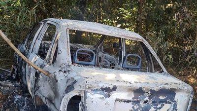 Incineran vehículo utilizado en millonario asalto en Amambay