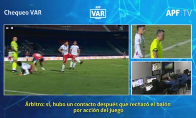 Así vio el VAR la polémica jugada entre Martínez y Villasanti