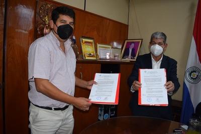Firmaron contrato para construcción de pabellón de contingencia covid-19