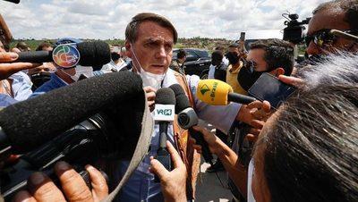 Bolsonaro lideró multitudinaria concentración en plena segunda ola de Covid