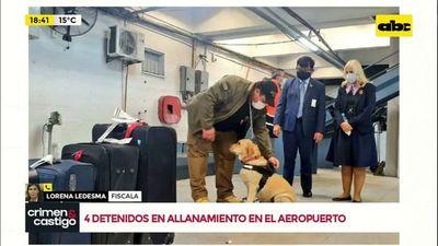 4 detenidos en allanamiento de aeropuerto