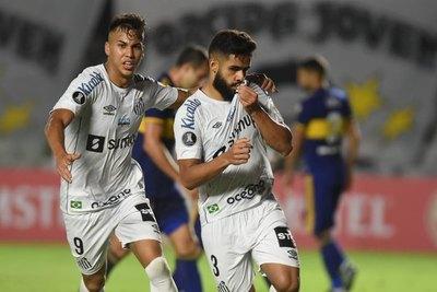 Santos vence a Boca Juniors y sube al segundo lugar