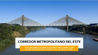 Obras de acceso vial al Puente de la Integración están dentro del cronograma e iniciarían muy pronto, afirma MOPC