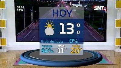 Pronóstico del tiempo: Fresco por la mañana, agradable por la tarde
